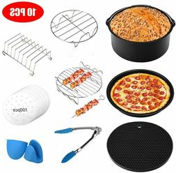 10 Pcs Air Fryer Accessories 8 Inch Fit All Standard Air Fry