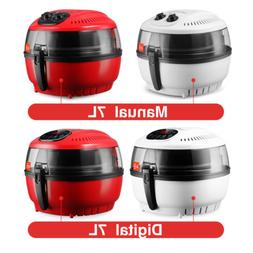 10QT Digital Electric Air Fryer Oil-Less Griller Calorie Red