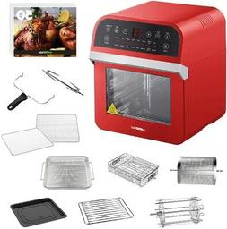 GOWISE USA 12.7 Qt. Electric Air Fryer Oven/Rotisserie with
