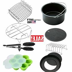 XL Air Fryer Accessories 8 Inch,Set of 8, Fit all 5.3QT - 5.