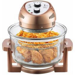 Big Boss 16 Qt. 1300-Watt Electric Air Fryer - Copper