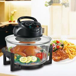17 Quart Halogen Oven Convection Glass Air Fryer Broil Bake