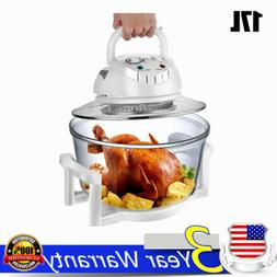 17L Glass Air Fryer Infrared Halogen Convection Oven Roaster