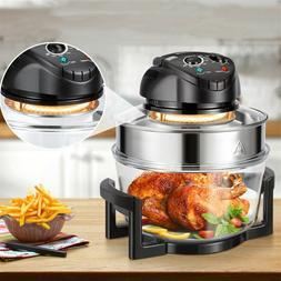 17Qt 1400W Air Fryer Halogen Oven Temperature Control Chicke