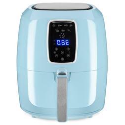 1800W Digital Non-Stick Blue Air Fryer Appliance 5.5QT 7-in-
