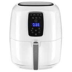 1800W Digital Non-Stick White Air Fryer Appliance 5.5QT 7-in