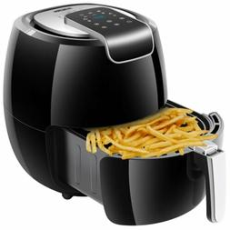 1800W Large 5.6QT Electric Hot Air Fryer Oilless Cooker 7 Co