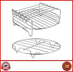 2 Pack XL Air Fryer Accessories-Air Fryer Rack, Multi-purpos