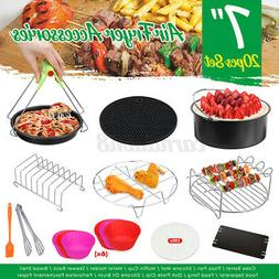 For 3.2-6.8QT 12/Set 7'' Air Fryer Accessories Pizza Pan Cak