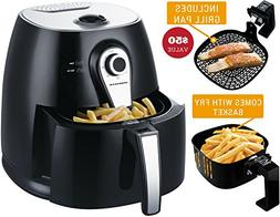Ovente Electric Air Fryer with Timer, 3.2 Qt, 1400 Watts, Ad