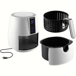 Farberware 3.2 Quart Digital Air Fryer, Oil-Less, White Bran