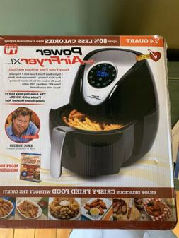 Power XL 3.4-qt Deluxe Digital Air Fryer w/ Accessories Blac