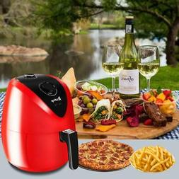 3.5L 1500W Electric Air Fryer Low Oil Timer & Temperature Co
