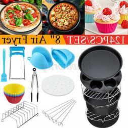 "For 3.7-6.8QT Air Fryer Accessories 124Pcs 8"" Cake Basket Pi"
