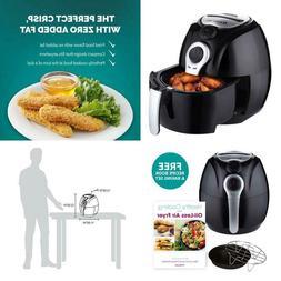 3.7 Qt. Bpa Free Compact Manual Air Fryer With Dishwasher Sa
