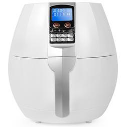 3.7 Qt. White Air Fryer with Digital Control Panel Programmi