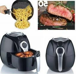 GoWISE USA 3.7 Quart Dial Control Heavy Duty Air Fryer Recip