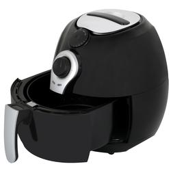 New 3.7 Quart Power AirFryer Super Heated Air Fryer with Rec