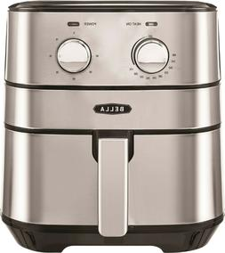 Bella - 4-qt. Analog Air Convection Fryer - Stainless Steel