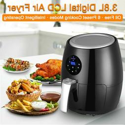 4qt 1350W Air Fryer Digital LCD Touch Oil Free 360° Heating