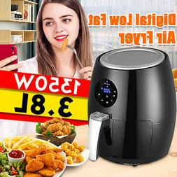 4qt 1350W Air Fryer LCD Touch Screen 360° Heating Cooking O