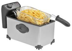 Kalorik 4Qt Deep Fryer, Stainless Steel, 1 ea