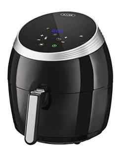 BELLA  5.3 Quart Air Convection Fryer, Black