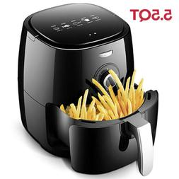 5.5 QT Large Electric Hot Air Fryer Oven 1800W Oilless Cooke