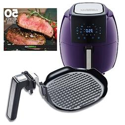 GoWISE USA 5.8-Quarts 8-in-1 Air Fryer XL + Insert Grill Pan