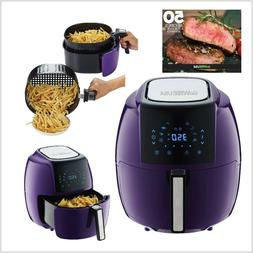 GoWISE USA 5.8-Quart Programmable 8-in-1 Air Fryer XL + Reci