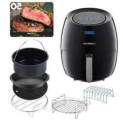 GoWISE USA 5.8-Quarts Air Fryer + 6 piece Accessory Set