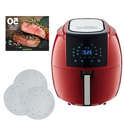 GoWISE USA 5.8-Quarts 8-in-1 Air Fryer XL + 50 Recipes for y
