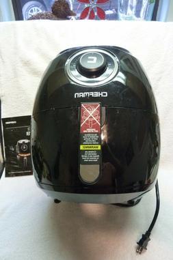 CHEFMAN - 6.5L Analog Air Fryer - Black/Stainless Steel