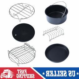 6 in 1 Multifunctional Air Fryer Accessories Kit Parts Metal