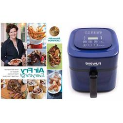 """Nuwave 6 qt Brio Air Fryer-Blue with"""" Air Fry Everything"""" Co"""