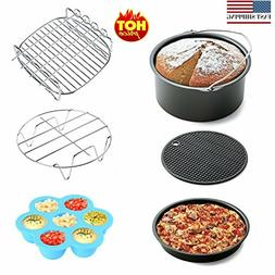 6pcs Air Fryer Accessories for Gowise Phillips and Cozyna, f