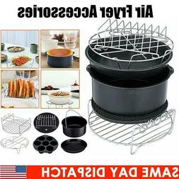 6Pcs/Set Air Fryer Accessories Set Chips BBQ Roast Baking Pi