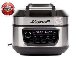 PowerXL - 6qt Digital Grill Air Fryer Combo - Silver