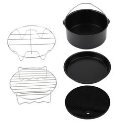 "7"" 5PCS/Set Air Fryer Accessories Chips Baking Cake Pizza Pa"