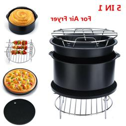 "7"" Air Fryer Accessories Chips Baking 5pcs Set Cake Pizza Pa"