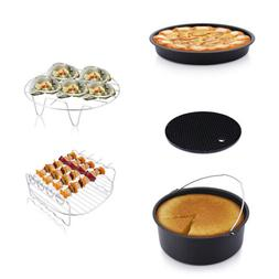 7'' Air Fryer Accessories Chips Baking Basket Pan Holder For