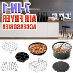 7-in-1 8'' Air Fryer Accessories Set for 5.2~5.8QT Baking Sh