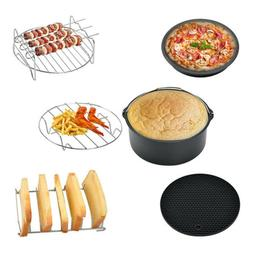 7 Inch Air Fryer Accessories Baking Basket Pizza Plate Grill