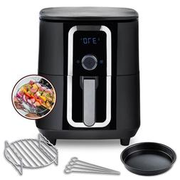 7 Qt. Ceramic Family-Size Air Fryer with Accessories and Ful