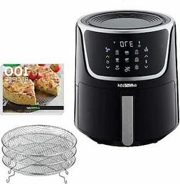 GoWISE USA 7 Qt. Extra Large Electric Air Fryer with Dehydra
