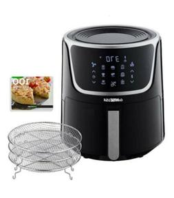 7 Quart Electric Air Fryer Dehydrator 3 Racks Led Touchscree