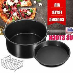 """7"""" Replacement Air Fryer Frying Cage Dish Baking Pan Rack Tr"""