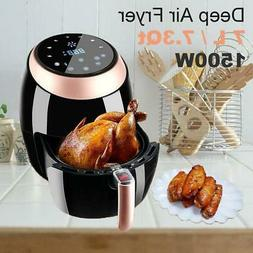 7L 1500W LCD Electric Air Fryer W/ 8 Cooking Presets Tempera