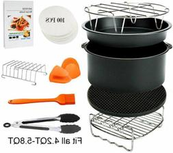8'' 11PCS  Air Fryer Accessories for All 4.2-5.8QT Philips/G