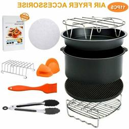 8'' 11PCS  Air Fryer Accessories Set for All 4.2-5.8QT Phili